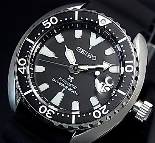 SEIKO/PROSPEX/200m diver's watch【セイコー/プロスペックス/200m防水ダイバーズ】自動巻 ブラックベゼル メンズ腕時計 ラバーベルト ブラック文字盤 海外モデル【並行輸入品】 SRPC37K1