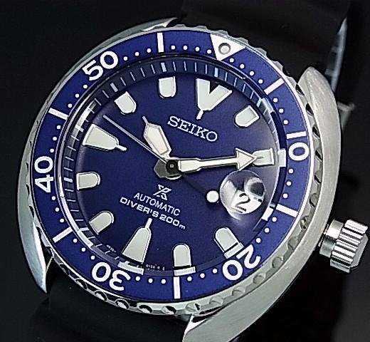 SEIKO/PROSPEX/200m diver's watch【セイコー/プロスペックス/200m防水ダイバーズ】自動巻 ブラックベゼル メンズ腕時計 ラバーベルト ネイビー文字盤 海外モデル【並行輸入品】 SRPC39K1