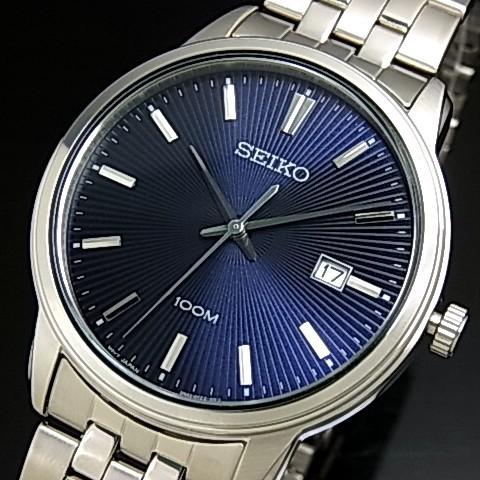 SEIKO/Quartz【セイコー/クォーツ】メンズ腕時計 メタルベルト ネイビー文字盤 海外モデル【並行輸入品】SUR259P1