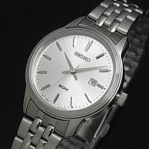 SEIKO/Quartz【セイコー/クォーツ】レディース腕時計 メタルベルト シルバー文字盤 海外モデル【並行輸入品】SUR667P1
