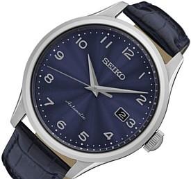SEIKO/Automatic【セイコー/オートマチック】自動巻 メンズ腕時計 ネイビーレザーベルト ネイビー文字盤 海外モデル【並行輸入品】 SRPC21K1