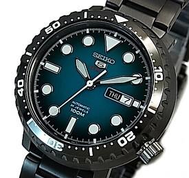 SEIKO/SEIKO5 Sports【セイコー5スポーツ/ファイブスポーツ】自動巻 メンズ腕時計 ブラックメタルベルト グリーン文字盤 海外モデル【並行輸入品】 SRPC65K1