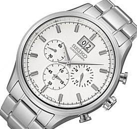 SEIKO/Chronograph【セイコー/クロノグラフ】メンズ腕時計 メタルベルト シルバー文字盤 SPC079P1 海外モデル【並行輸入品】
