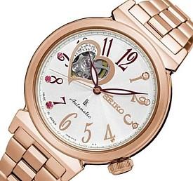 SEIKO/LUKIA【セイコー/ルキア】レディース腕時計 自動巻 ホワイト文字盤 ピンクゴールドメタルベルト SSA834J1 海外モデル【並行輸入品】