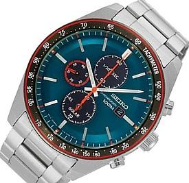SEIKO/Chronograph【セイコー/クロノグラフ】メンズ ソーラー腕時計 メタルベルト グリーン文字盤 SSC717P1 海外モデル【並行輸入品】