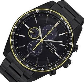 SEIKO/Chronograph【セイコー/クロノグラフ】メンズ ソーラー腕時計 ブラックメタルベルト ブラック文字盤 SSC723P1 海外モデル【並行輸入品】