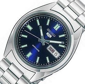 SEIKO/SEIKO5【セイコー5/セイコーファイブ】自動巻 メンズ腕時計 メタルベルト ネイビー文字盤 海外モデル【並行輸入品】SNXS77K