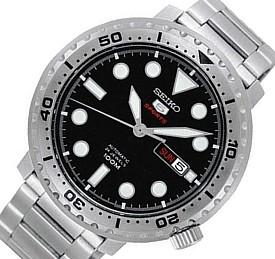 SEIKO/SEIKO5 Sports【セイコー5スポーツ/ファイブスポーツ】自動巻 メンズ腕時計 メタルベルト ブラック文字盤 海外モデル【並行輸入品】SRPC61K1