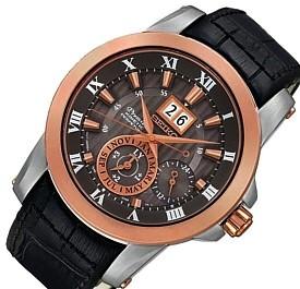 SEIKO/Premier【セイコー/プルミエ】キネテック パーペチュアルカレンダー メンズ腕時計 レザーベルト グレー文字盤 SNP114P2 海外モデル【並行輸入品】