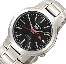 SEIKO/SEIKO5【セイコー5/セイコーファイブ】自動巻 メンズ腕時計 メタルベルト ブラック文字盤 SNKA07K1 海外モデル【並行輸入品】