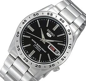 SEIKO/SEIKO5【セイコー5/セイコーファイブ】自動巻 メンズ腕時計 メタルベルト ブラック文字盤 SNKE01K1 海外モデル【並行輸入品】