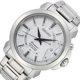 SEIKO/Premier【セイコー/プルミエ】メンズ腕時計 メタルベルト シルバー文字盤 SNQ155P1 海外モデル【並行輸入品】