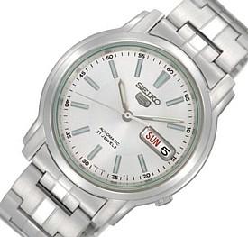SEIKO/SEIKO5【セイコー5/セイコーファイブ】自動巻 メンズ腕時計 メタルベルト ホワイト文字盤 SNKL75K1 海外モデル【並行輸入品】