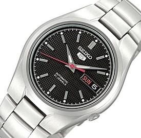 SEIKO/SEIKO5【セイコー5/セイコーファイブ】自動巻 メンズ腕時計 メタルベルト ブラック文字盤 SNK607K1 海外モデル【並行輸入品】