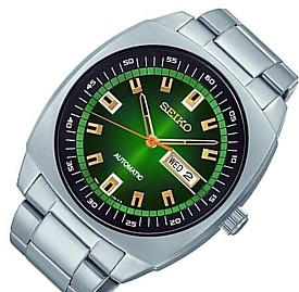 SEIKO/オートマチック【セイコー】自動巻 メンズ腕時計 メタルベルト グリーン文字盤 SNKM97K1 海外モデル【並行輸入品】