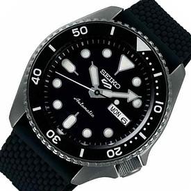 SEIKO/SEIKO5 Sports【セイコー5スポーツ/ファイブスポーツ】自動巻 メンズ腕時計 ラバーベルト ブラック文字盤 海外モデル【並行輸入品】SRPD65K2