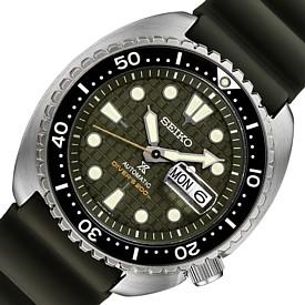 SEIKO/PROSPEX/200m diver's watch【セイコー/プロスペックス/200m防水ダイバーズ】自動巻 メンズ腕時計 グリーン文字盤 グレーラバーベルト 海外モデル【並行輸入品】SRPE05K1