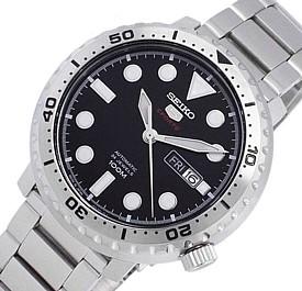 SEIKO/SEIKO5 Sports【セイコー5スポーツ/ファイブスポーツ】自動巻 メンズ腕時計 メタルベルト ブラック文字盤 MADE IN JAPAN 海外モデル【並行輸入品】SRPC61J1