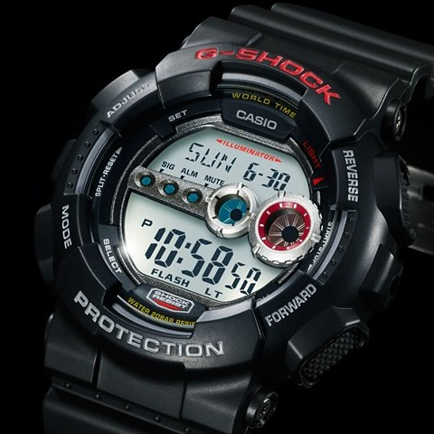 "CASIO/G-SHOCK【カシオ/Gショック】""高輝度LEDバックライト""搭載モデル ブラック GD-100-1A 海外モデル【並行輸入品】"