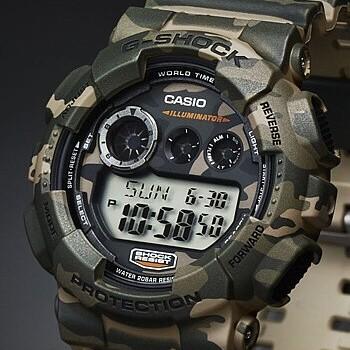 CASIO/G-SHOCK【カシオ/Gショック】Camouflage Series/カモフラージュシリーズ メンズ腕時計 海外モデル【並行輸入品】 GD-120CM-5