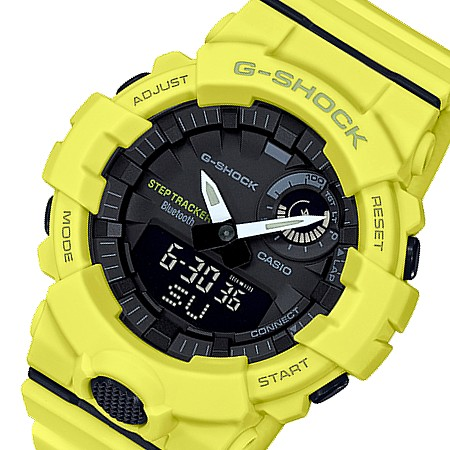 CASIO/G-SHOCK【カシオ/Gショック】G-SQUAD/ジー・スクワット ブルートゥース モバイルリンクモデル メンズ腕時計 イエロー(国内正規品)GBA-800-9AJF