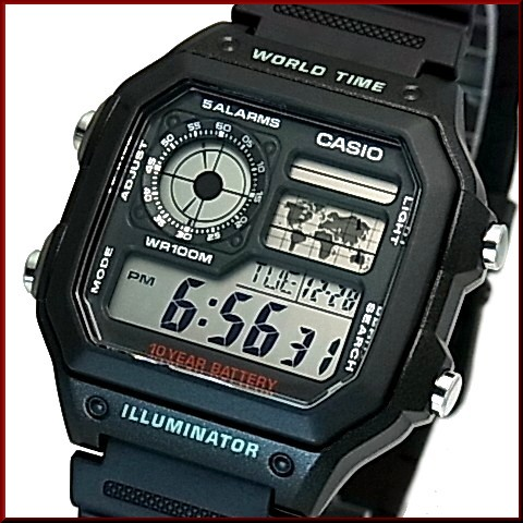 BRIGHT: CASIO Standard digital world map indication world time
