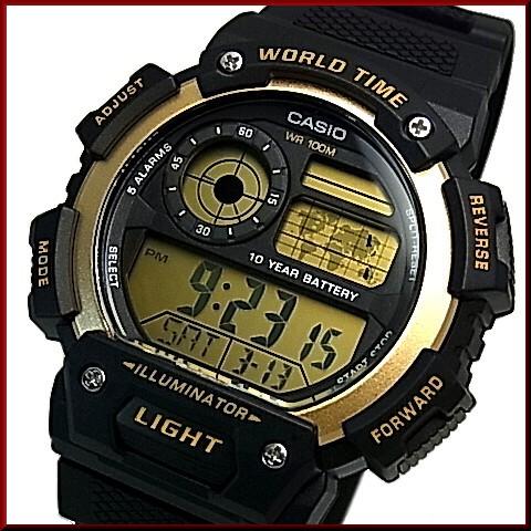 Bright Casio Standard Digital World Map Indication World Time Men S