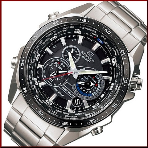 6d8d49509 BRIGHT: CASIO/EDIFICE solar watch chronograph Men's black Dial ...
