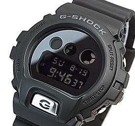 CASIO/G-SHOCK【カシオ/Gショック】ミラーダイアル ブラック/シルバー メンズ腕時計 海外モデル【並行輸入品】DW-6900MMA-1