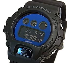 CASIO/G-SHOCK【カシオ/Gショック】ミラーダイアル ブラック/ブルー メンズ腕時計(国内正規品)DW-6900MMA-2JF