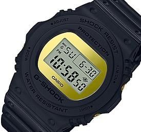 CASIO/G-SHOCK【カシオ/Gショック】Metallic Mirror Face/メタリック・ミラーフェイス ベーシックモデル メンズ腕時計 ブラック/ゴールド 海外モデル【並行輸入品】DW-5700BBMB-1