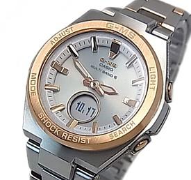 CASIO/Baby-G【カシオ/ベビーG】G-MS/ジーミズ ソーラー電波腕時計 レディース コンビメタルベルト(国内正規品)MSG-W200SG-4AJF