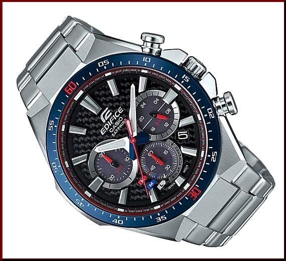5aed2e7d35bf ... CASIO EDIFICE solar chronograph men watch スクーデリア fatty tuna rosso  limited edition carbon fiver clockface ...
