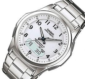 CASIO/Wave Ceptor【カシオ/ウェーブセプター】メンズ腕時計 ソーラー電波腕時計 ホワイト文字盤 メタルベルト(国内正規品)WVA-M630D-7AJF