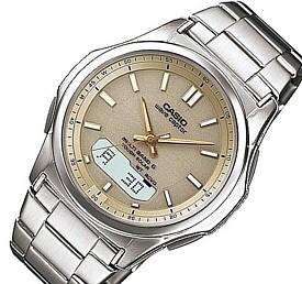 CASIO/Wave Ceptor【カシオ/ウェーブセプター】メンズ腕時計 ソーラー電波腕時計 ゴールド文字盤 メタルベルト(国内正規品)WVA-M630D-9AJF