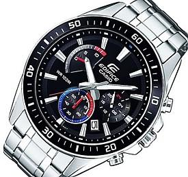 CASIO/EDIFICE【カシオ/エディフィス】クロノグラフ メンズ腕時計 ブラック/ブルー/レッド文字盤 メタルベルト 海外モデル【並行輸入品】 EFR-552D-1A3