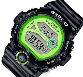 CASIO/Baby-G【カシオ/ベビーG】ランニングウォッチ レディース腕時計 ブラックスケルトン/グリーン 海外モデル【並行輸入品】 BG-6903-1B