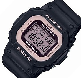 CASIO/Baby-G【カシオ/ベビーG】ソーラー電波腕時計 レディース ブラック/ライトピンク(国内正規品)BGD-5000-1BJF