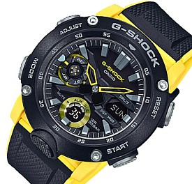CASIO/G-SHOCK【カシオ/Gショック】カーボンコアガード構造 アナデジモデル メンズ腕時計 ブラック/イエロー 海外モデル【並行輸入品】GA-2000-1A9