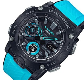CASIO/G-SHOCK【カシオ/Gショック】カーボンコアガード構造 アナデジモデル メンズ腕時計 ブラック/ブルー 海外モデル【並行輸入品】GA-2000-1A2