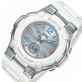 CASIO/Baby-G/Retro Tricolor【カシオ/ベビーG/レトロ・トリコロール】ソーラー電波腕時計 レディース ホワイト(国内正規品)BGA-1100TR-7BJF