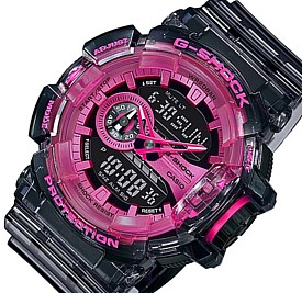 CASIO/G-SHOCK【カシオ/Gショック】アナデジ メンズ腕時計 Clear Skeleton ブラックスケルトン/ピンク 海外モデル【並行輸入品】GA-400SK-1A4