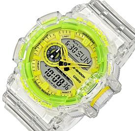 CASIO/G-SHOCK【カシオ/Gショック】アナデジ メンズ腕時計 Clear Skeleton スケルトン/イエロー 海外モデル【並行輸入品】GA-400SK-1A9