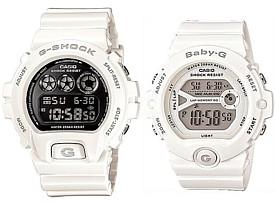 CASIO/G-SHOCK/Baby-G【カシオ/Gショック/ベビーG】ペアウォッチ 腕時計 ホワイト 海外モデル【並行輸入品】DW-6900NB-7-BG-6903-7B