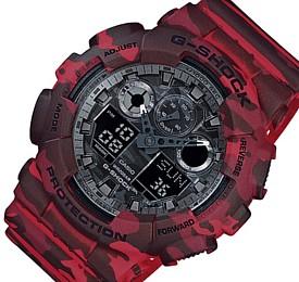 CASIO/G-SHOCK【カシオ/Gショック】Camouflage Series/カモフラージュシリーズ アナデジ メンズ腕時計 迷彩柄 海外モデル【並行輸入品】 GA-100CM-4A