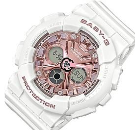 CASIO/Baby-G【カシオ/ベビーG】レディース腕時計 ホワイト/ピンク(国内正規品)BA-130-7A1JF