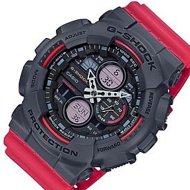 CASIO/G-SHOCK【カシオ/Gショック】アナデジコンビモデル メンズ腕時計 グレー/レッド 海外モデル【並行輸入品】GA-140-4A