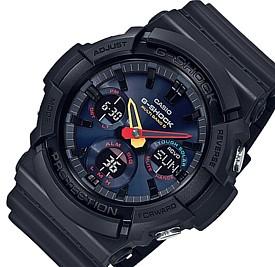 CASIO/G-SHOCK【カシオ/Gショック】ソーラー電波腕時計 アナデジモデル ブラック/ネオン 海外モデル【並行輸入品】GAW-100BMC-1A
