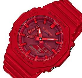 CASIO/G-SHOCK【カシオ/Gショック】カーボンコアガード構造 アナデジモデル メンズ腕時計 レッド 海外モデル【並行輸入品】GA-2100-4A