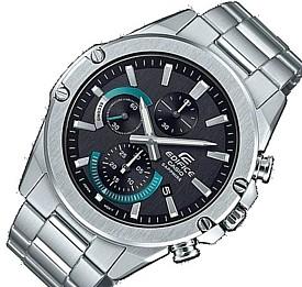 CASIO/EDIFICE【カシオ/エディフィス】クロノグラフ メンズ腕時計 ブラック/ブルー文字盤 メタルベルト 海外モデル【並行輸入品】EFR-S567D-1A